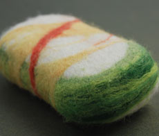 Felted olive oil soap